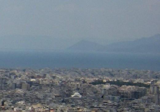Island of Egina and the gulf