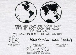 """Mankind owns the moon  """"We came in peace for all mankind"""""""