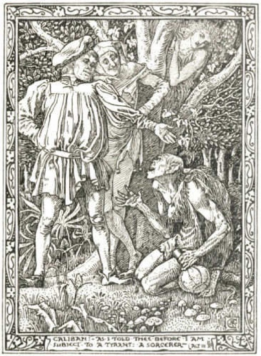 Illustration from The Tempest, by William Shakespeare