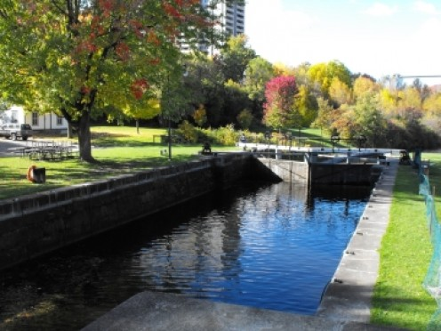 One of the locks in beautiful parkland setting