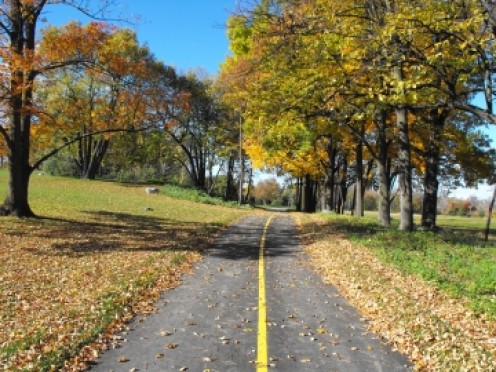 Wide open spaces and bicycle paths