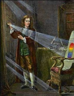 ISAAC NEWTON DISCOVERS COLORS