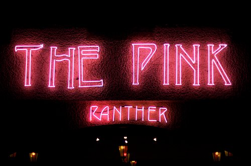 Pink Panther go go bar on Patpong 1 and Surawongse Road. A large venue with Muay Thai boxing.