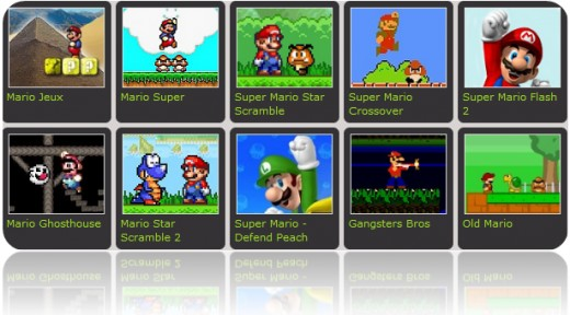 browser super mario. playing Super Mario games