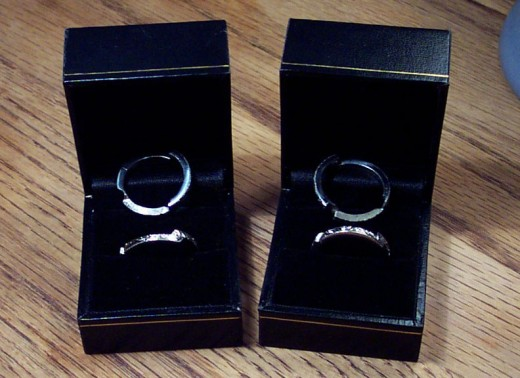 Engagement Gimmel Rings, two parts become whole during the wedding.