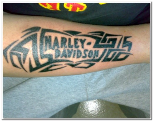 The seventh of my Biker Tattoos is another Harley Tattoo, ya can't beat the
