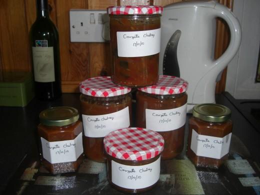 courgette/zucchini chutney