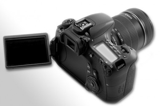 Canon 60D has a new articulating LCD screen!