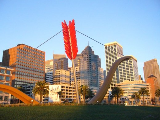 Artwork on the Embarcadero