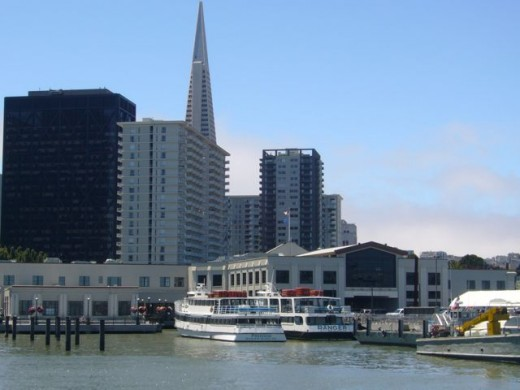 Walking toward Fisherman's Wharf