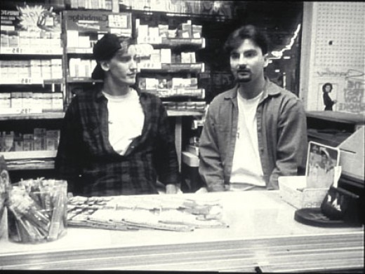Jeff Anderson and Brian O'Halloran in Clerks