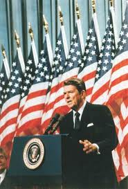 Reagan's speech challenging the USSR to tear down the Berlin Wall.