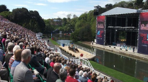 Scarborough's Open Air Theatre Opened This Year by The Queen