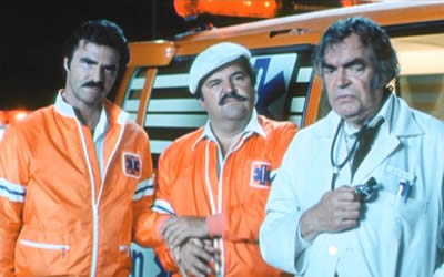 Burt Reynolds, Dom DeLuise and Jack Elam in The Cannonball Run