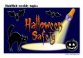 Halloween Cat and Kid Safety and Fun - Don't Walk the Street for Treats