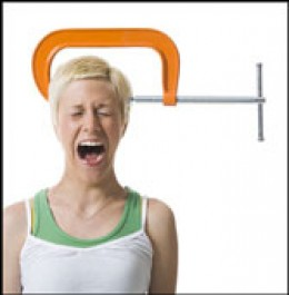 If you suffer from migraines, you'll think your head is in a vice!