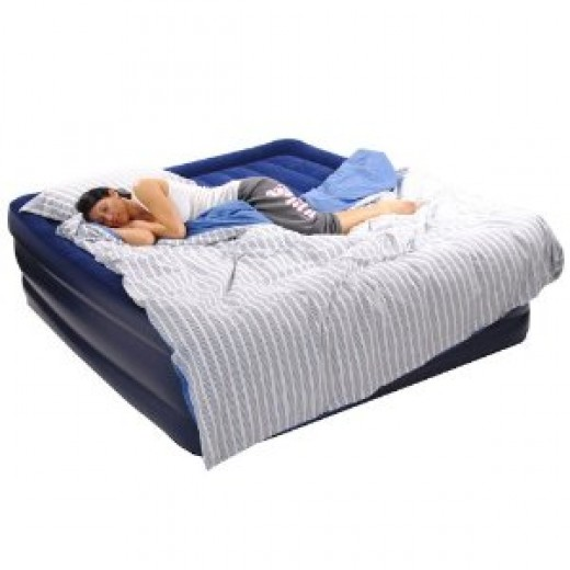 "Smart Air Beds Deluxe Flock Top Raised King Size Air Bed (Elevated 22"" High)"