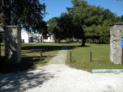 The entrance to the Plantation house grounds