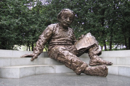 Albert Einstein Memorial Statue, Copyright 1978 by Robert Berks