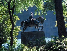 Simon Bolivar statue in Central Park