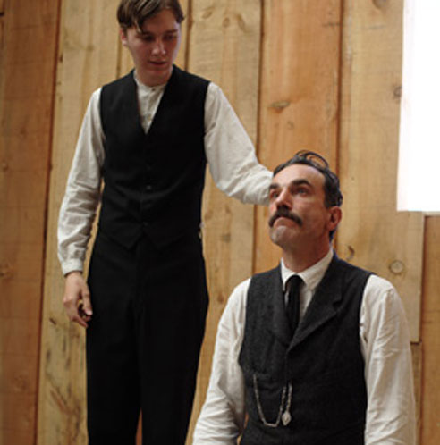 Paul Dano and Daniel Day Lewis in There Will Be Blood