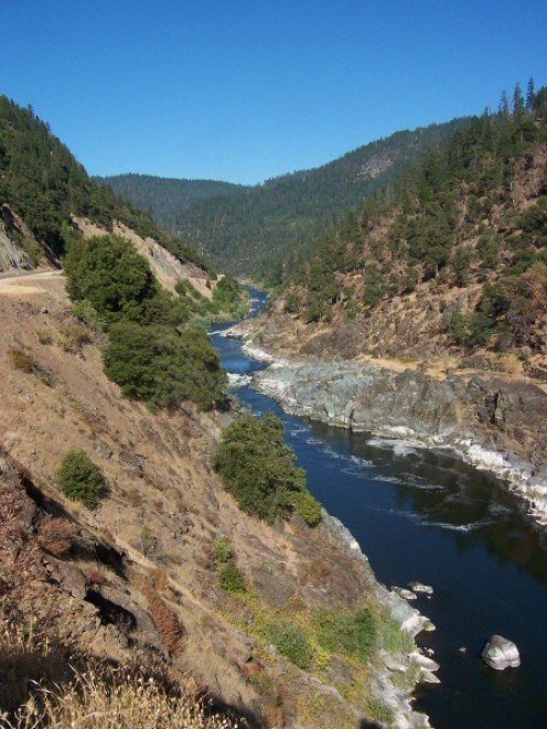 The Klamath River - Four Miles downriver from Happy Camp.