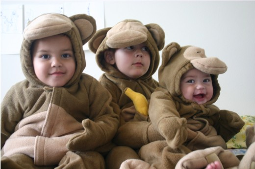 My grandchildren all dressed alike - aren't they so cute!
