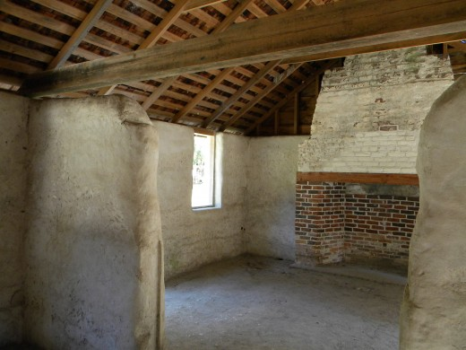 Another view of inside the renovated slave cabin at the gate