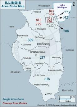 IL Area Code Map