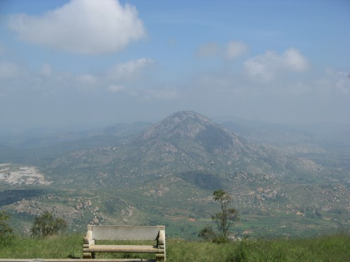 Picturesque hill viewed from Nandi hills.
