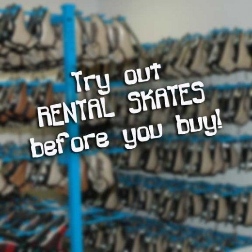 Try skating on the rink's rental skates at least a few times before buying figure skates.