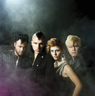 Rockin' the 80's style in 2010, Neon Trees.