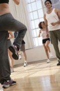Aerobics constitute vigorous exercise--and two hours+ per week cuts the risk by 64%