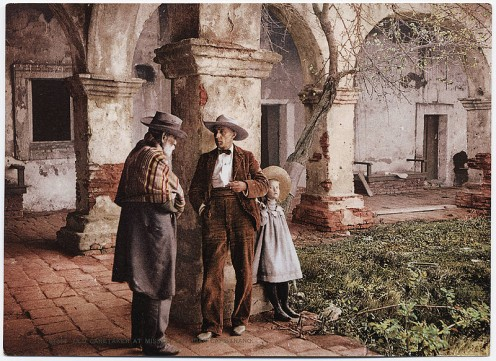 Picture of the Old Caretaker at Mission San Juan Capistrano in Southern California.  I love to go see this beautiful mission and its gardens.