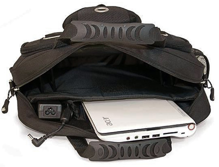 Mobile Edge Netbook Briefcase open view