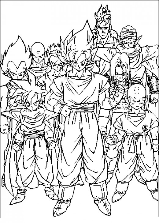 Dragon Ball Z coloring pages - Cartoon Color Pages - printable
