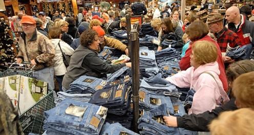 Crazy Black Friday shopping frenzy