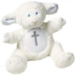 A larger image of the Mary Meyer plush lamb rattle (visit the product page using the link below)