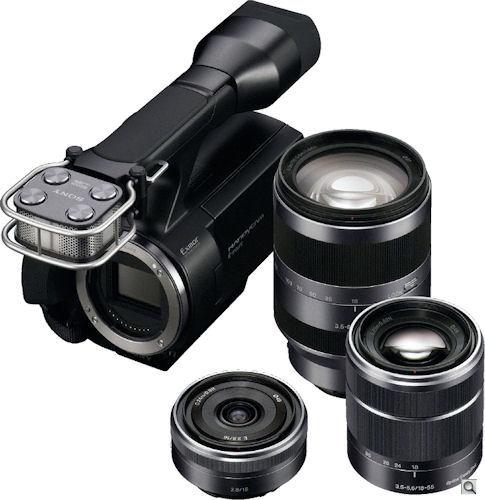 Sony VG10 interchangeable lenses