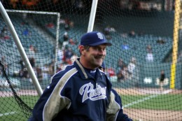 Bruce Bochy, Now Giants Manager...THEN, he was manager of the San Diego Padres