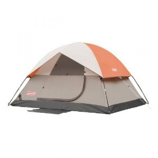 Coleman SunDome 9- by 7- Foot Four- Person Dome Tent (Orange/Grey)