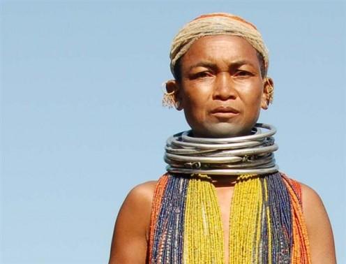 Bonda woman in Orissa, India
