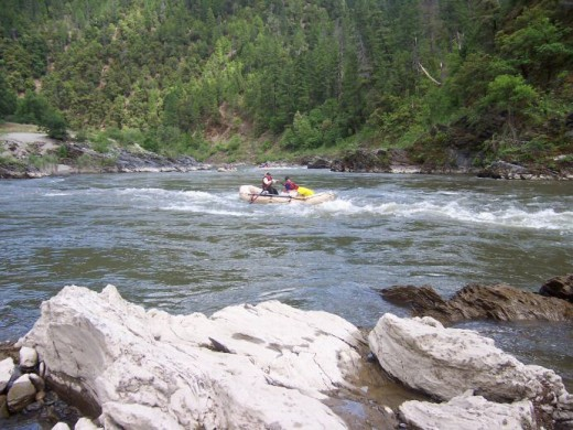 Rafting at Wingate on the Klamath River - about five miles southwest of Happy Camp.