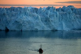 An Ice Shelf is what prevents an ice sheet from falling into the ocean.