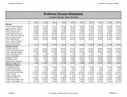 The Proforma Income Statement