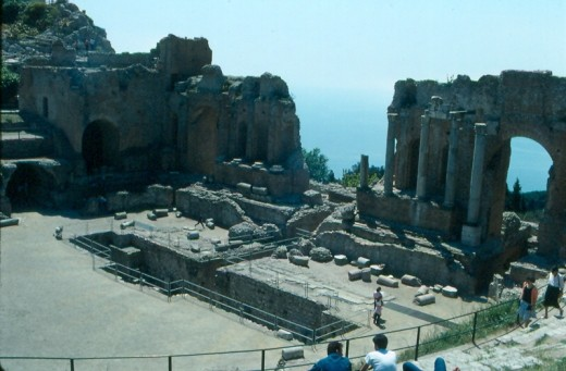 Greek Amphitheater, Taormina, Italy.