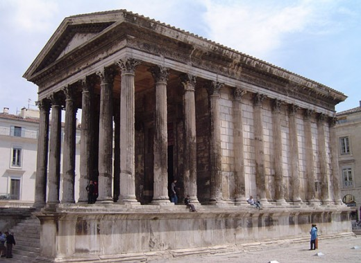 Maison Carree, Nimes, France. Photo courtesy of Wikipedia.