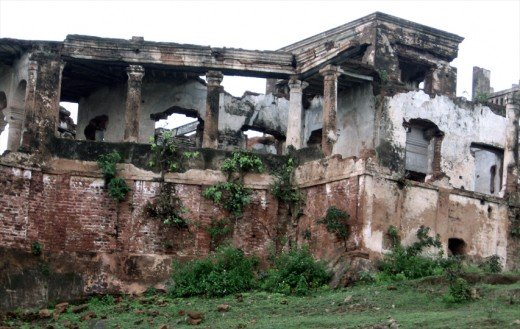 Ruins of Military Barrack, constructed during 1760s.