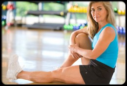 Strengthening the thigh muscles helps support the knees.