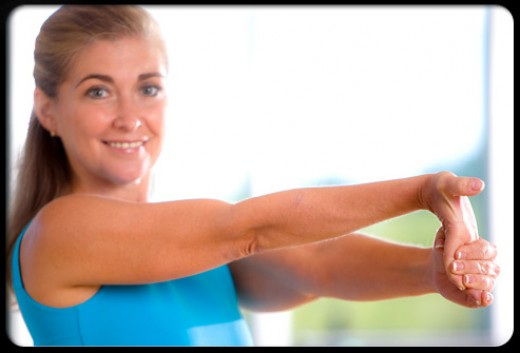 Stretching the elbow improves range of motion and decreases pain.